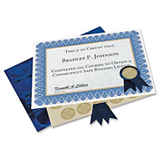 Geographics Blue Spiral Certificate Kit 11