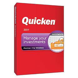 Quicken Premier 2017 Traditional Disc