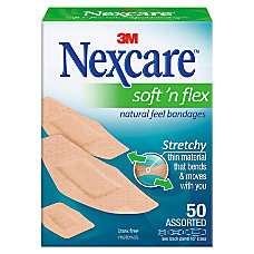 3M Nexcare Comfort Fabric Bandages Assorted