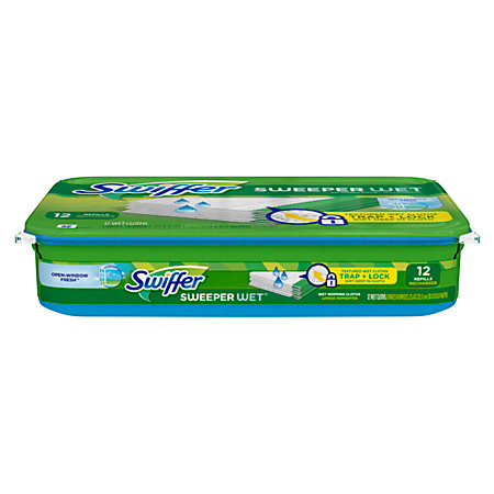 Swiffer Disposable Wet Cloths Pack Of 12 By Office Depot