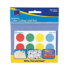 Avery Removable Color Coding Label Pad