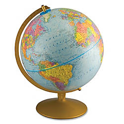 "Advantus World Globe With Blue Oceans, 12"" Diameter"