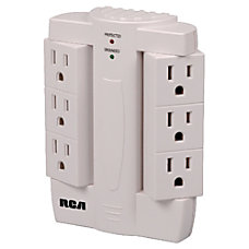 RCA PSWTS6R 6 Outlets Surge Suppressor