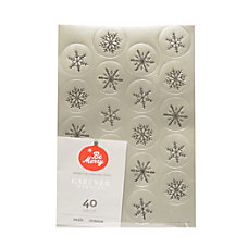 Gartner Studios Holiday Seals Silver Foil