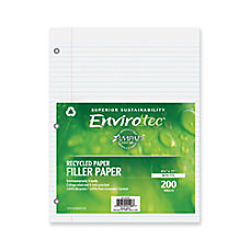 Ampad 100percent Recycled Filler Paper 8
