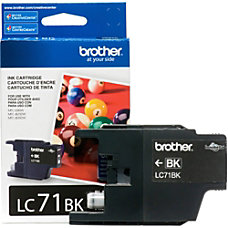Brother Innobella LC71BK Standard Yield Ink