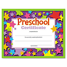 TREND Colorful Classic Preschool Certificates 8