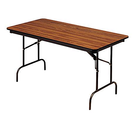 Iceberg premium folding table rectangular 72 w x 30 d for Office depot folding tables