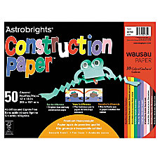 Wausau Astrobrights Construction Paper 12 x