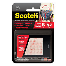 Scotch Recloseable Fasteners Clear 1 x