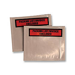 Quality Park Printed Packing ListInv Envelopes