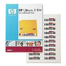 HP Ultrium 3 RW Bar Code