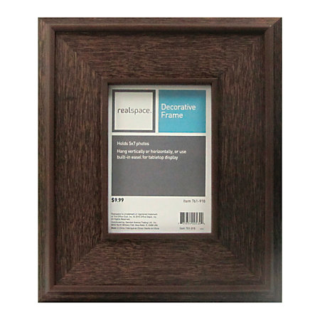 realspace picture frame dunkirk 5 x 7 dark brown item 761918