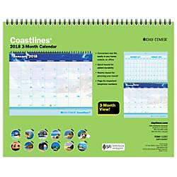 Day Timer Coastlines Monthly Wall Calendar