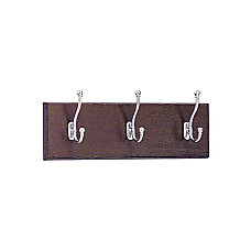 Safco 3 Hook Wood Wall Rack