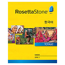 Rosetta Stone Korean Level 1 Windows