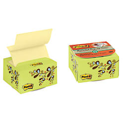 "Post-it® Pop-up Note Dispenser, Desk-Grip, 3"" x 3"", 30% Recycled, Green Flower + 200 Notes"