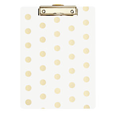 DiVoga Gold Dot Clipboard 9 x