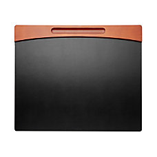 Rolodex Wood Faux Leather Desk Pad