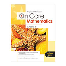Steck Vaughn On Core Mathematics Bundle