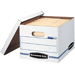 """Bankers Box® Stor/File™ EasyLift™ 60% Recycled Storage Boxes, 10""""H x 12""""W x 12""""D, Pack Of 12"""