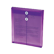 Smead 89544 Purple Poly Envelopes with