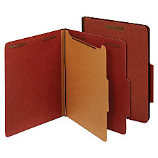Globe Weis Pressboard Divider Classification Folders