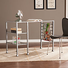 Southern Enterprises MetalGlass Writing Desk Distressed