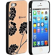 Gaiam iPhone 5 Wood Case Hydrangea