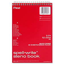 MeadWestvaco Spell Write Steno Book 80