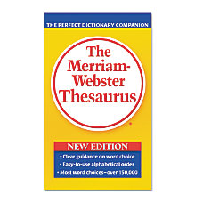 Merriam Webster Paperback Thesaurus Dictionary Printed