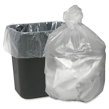 webster translucent waste can liners small size 10 gal 24 width x 24 length x mil 5 micron. Black Bedroom Furniture Sets. Home Design Ideas