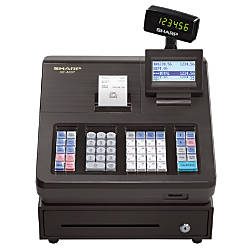 Sharp® XE-A207 Electronic Cash Register, Black