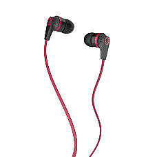 Skullcandy Inkd Earbud Headphones BlackRed