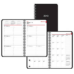 Office Depot Brand WeeklyMonthly Planner 5 x 8 BlackRed
