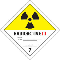 Tape Logic Preprinted Labels Radioactive III