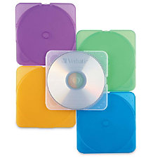 Verbatim CDDVD Color TRIMpak Cases 10pk