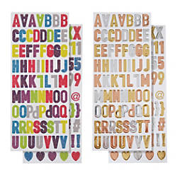 Divoga Sticker Sheets Shiny Letters Assorted