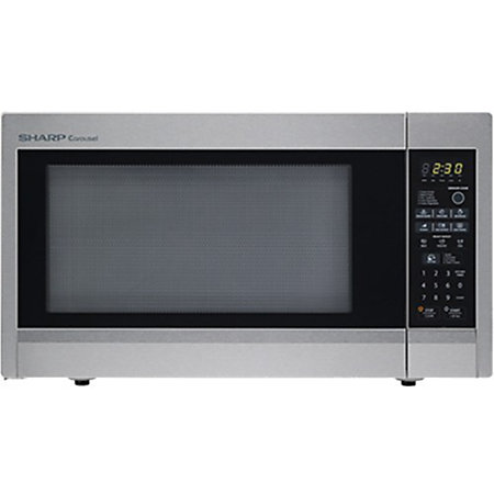 Sharp Countertop Microwave Dimensions : Sharp 2.2 Cu.Ft 1200W Full Size Countertop Microwave by Office Depot ...