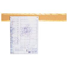 Quartet Bulletin Board Strip 48 Oak