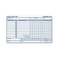 Rediform Weekly Time Clock Card Pad