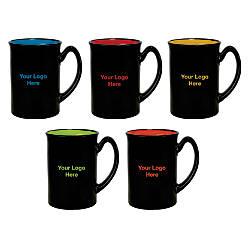 Bright Accented Color Mug 16 Oz