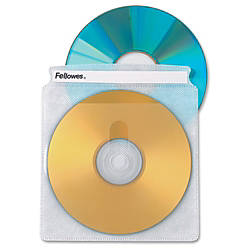 Fellowes Double Sided CD Sleeves Pack