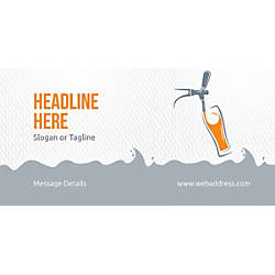 Custom Horizontal Banner Beer Tap Glass