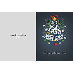 Photo Greeting Card Horizontal Merry And