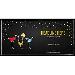 Custom Horizontal Banner Cocktail Party