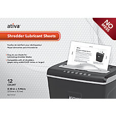 Ativa Shredder Lubricant Sheets Pack Of