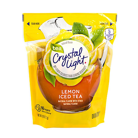 crystal light drink mix pitcher packs iced tea pack of 16 by office. Black Bedroom Furniture Sets. Home Design Ideas