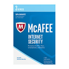 McAfee Internet Security 2017 For 3
