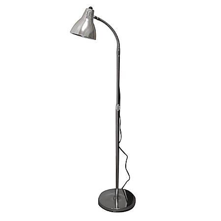 Hausmann 52 Height Adjustable Gooseneck Floor Lamp Chrome